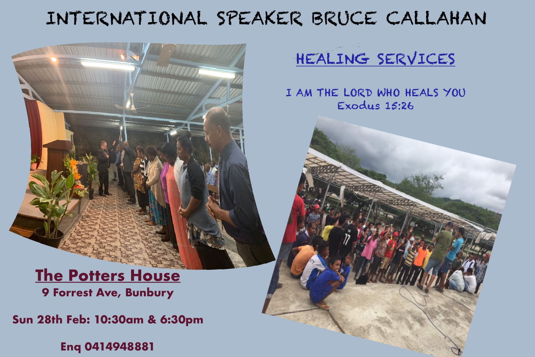Healing Service 28th Feb With International Speaker